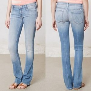 MOTHER The Runaway Skinny Flare Jeans Light Kitty